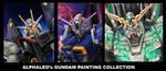Gundam paintings by alphaleo14