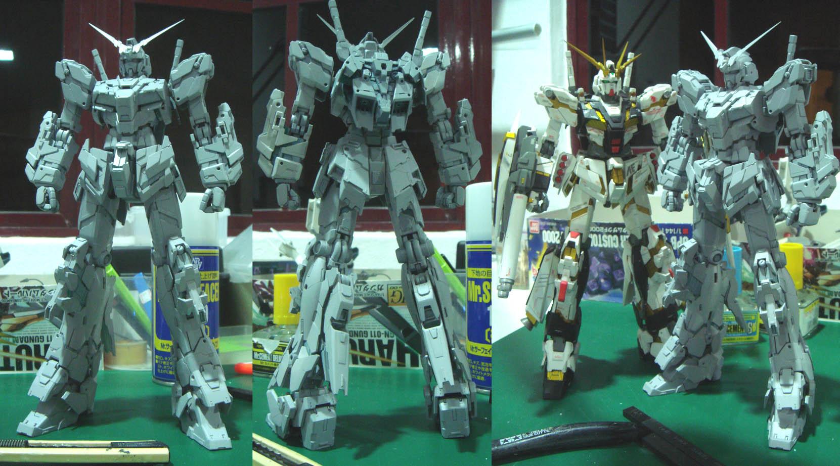 MG Gundam Unicorn Full armor WIP by alphaleo14