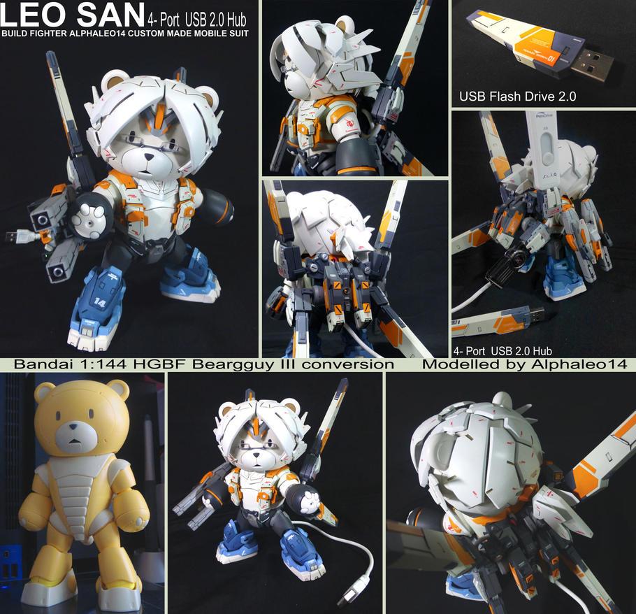 Leo-san 4 port USB hub by alphaleo14