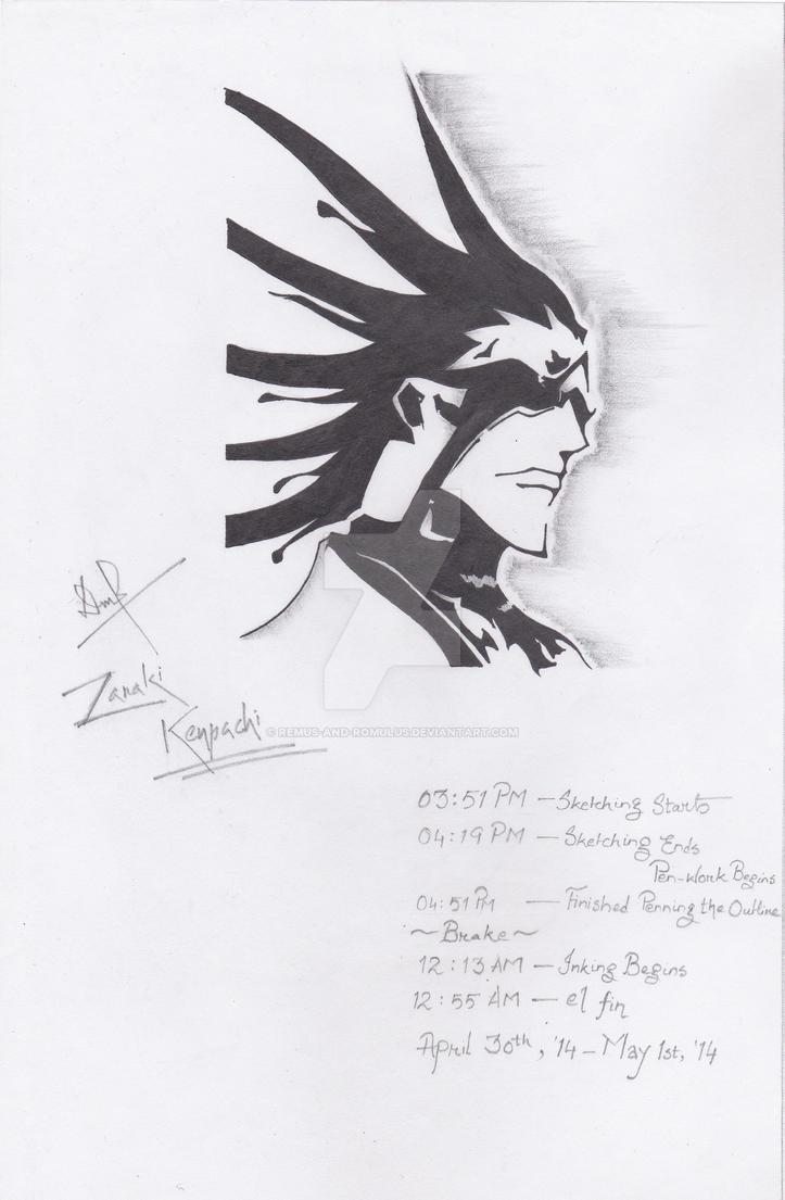 Zaraki Kenpachi, Inked by Remus-and-Romulus