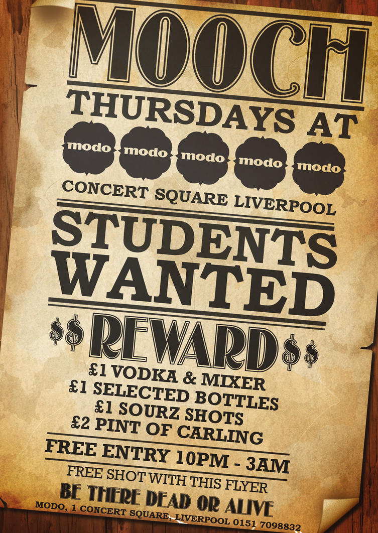 Students Wanted Club Flyer by T0XICboy