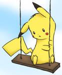 pikachu on a swiing