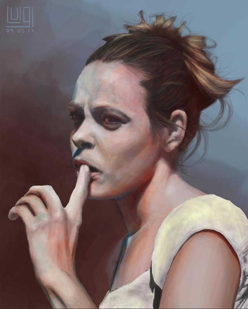 Girl's portrait by Iklungs