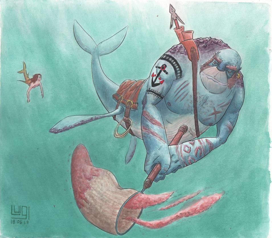 Wayde the merman by Iklungs