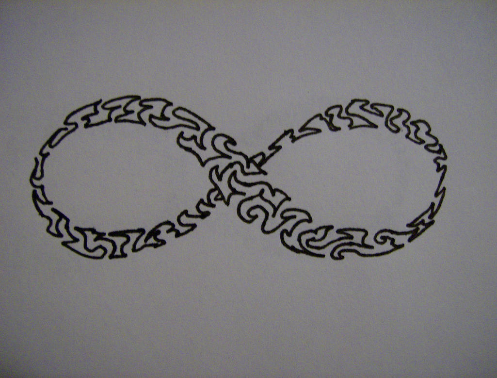 tribal infinity symbol for my friends tattoo. Black Bedroom Furniture Sets. Home Design Ideas
