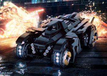 LEGO Arkham Knight Batmobile In Action