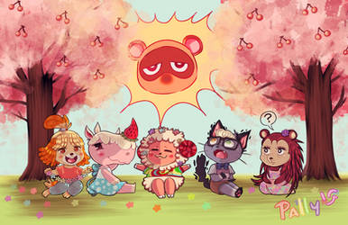 Animal Crossing Spring Commission