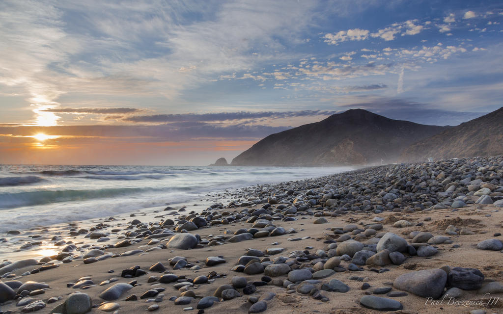 Sunset at Point Mugu by PaulBrozenich
