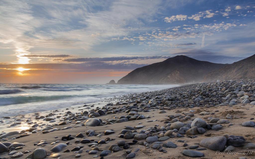 Sunset at Point Mugu by PaulBrozenich