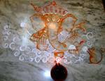 Lord Ganesha Alpona..