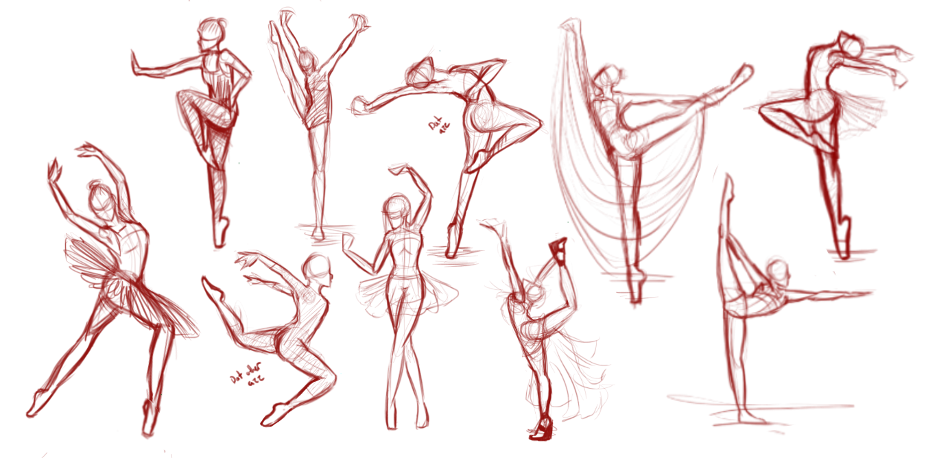 This is an image of Current Balllroom Dancing Refrence Drawing