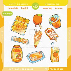 {konbini} orange flavor food collection png