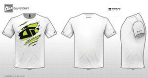 Torn t-shirt dA logo by mordraug
