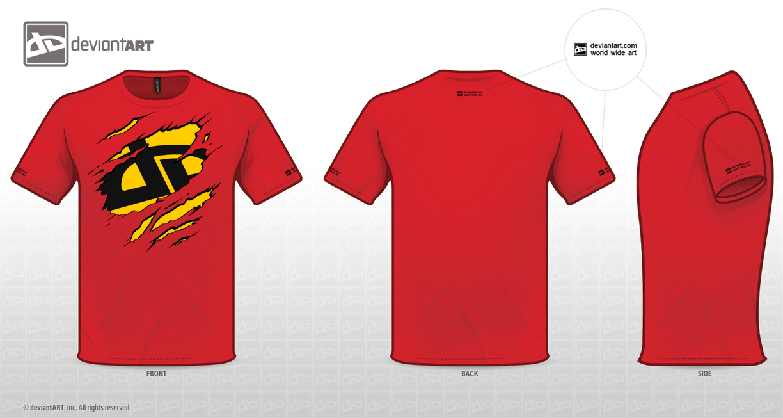 Torn t-shirt dA logo var 4 by mordraug