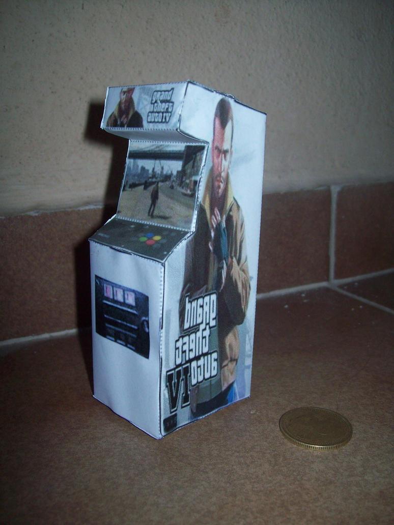 paper toys arcade gta 4 by gonzalomoya