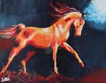 Running in the Dark - Acrylic painting