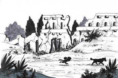 Inktober 15:Outpost