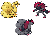 Zoroark and Ninetales Splice by Nzgirl389