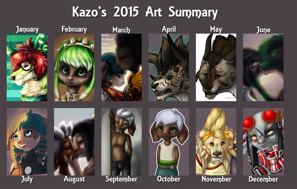 2015 Art Summary by 24Kazzu24