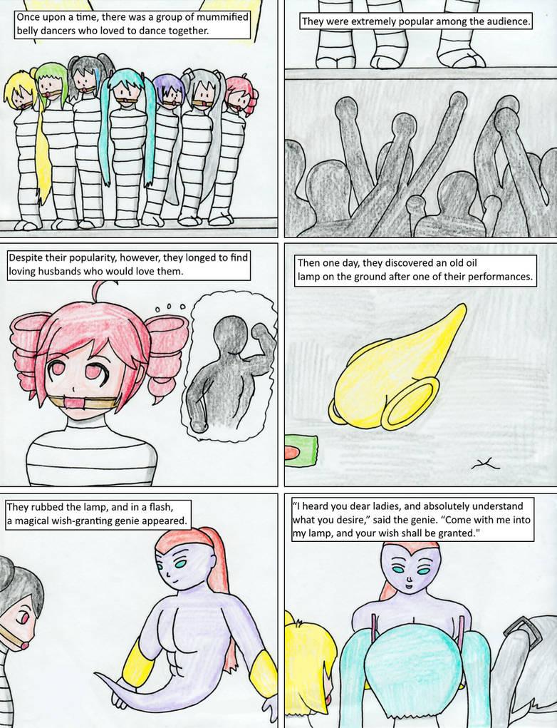 The Genie's Mummy Harem Page 1