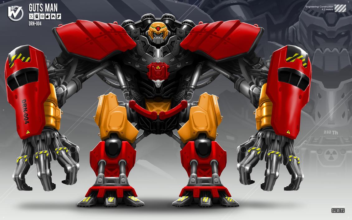 Robot Masters: Guts Man by rubendevela