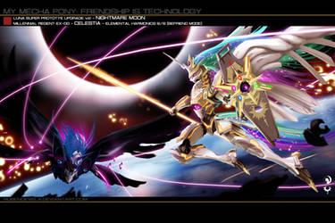 Celestia vs Nightmare Moon by rubendevela