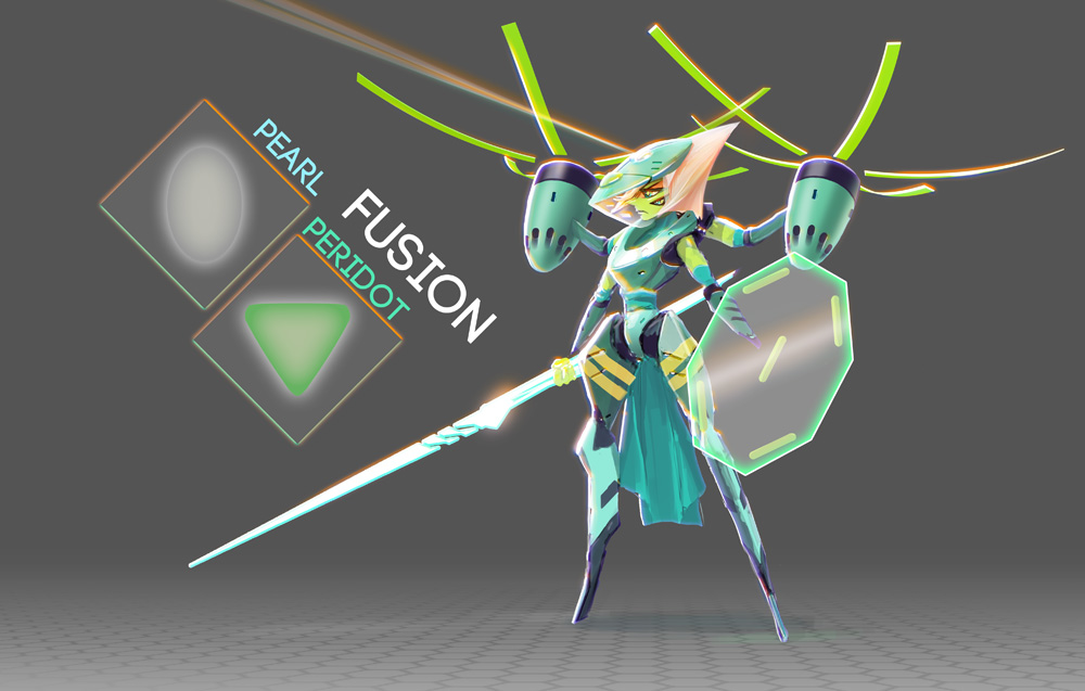 A Pearl + Peridot Fusion by rubendevela