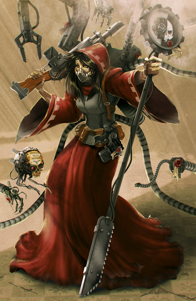 Techpriestess of the Omnissiah by rubendevela