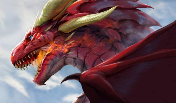 A Dragon under Blue Skies