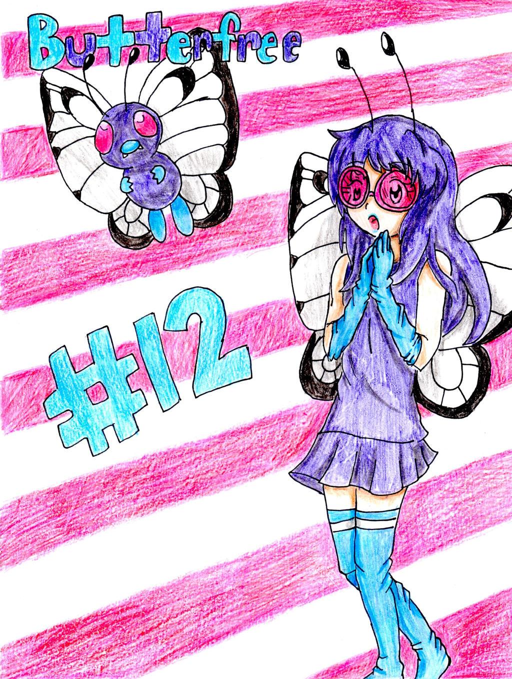 Pokemon Gijinka - Butterfree by MitsukiChan313