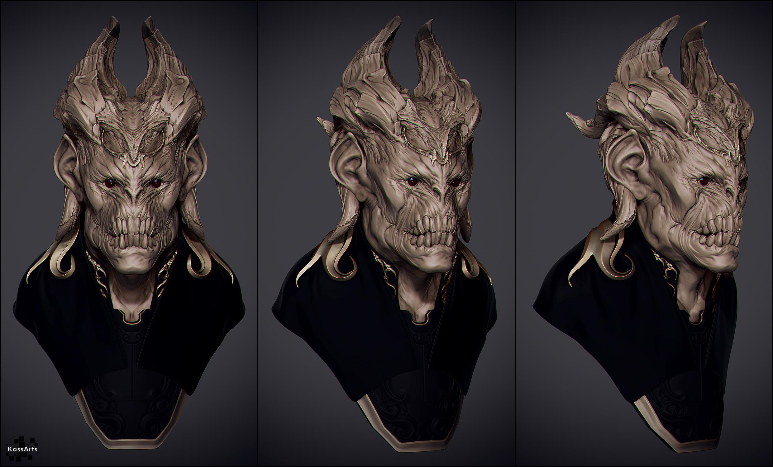 Demonio Bust by kassarts