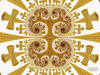 Fractal Golden Crosses by bryceguy72