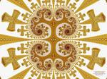 Fractal Golden Crosses