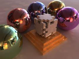 Jigsaw Cube lit by HDRI by bryceguy72