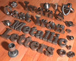 Ivan's Cast Iron Metallic Letters