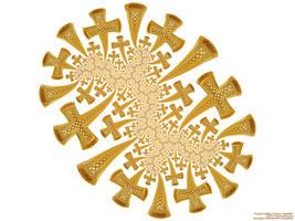 Fractal Golden Crosses, Dendrite by bryceguy72