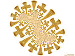 Fractal Golden Crosses, Dendrite