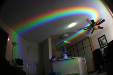 Rainbow Ceiling in My Living Room by bryceguy72