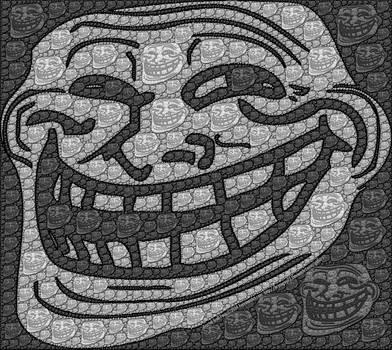 Fractal Troll Face by bryceguy72