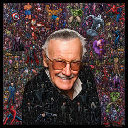 Stan Lee Fractal Collage