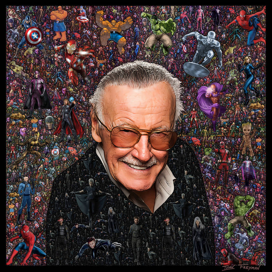 Stan Lee Fractal Collage by bryceguy72