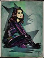 CATWOMAN BLUE Julie Newmar by MY-METAL-HAND