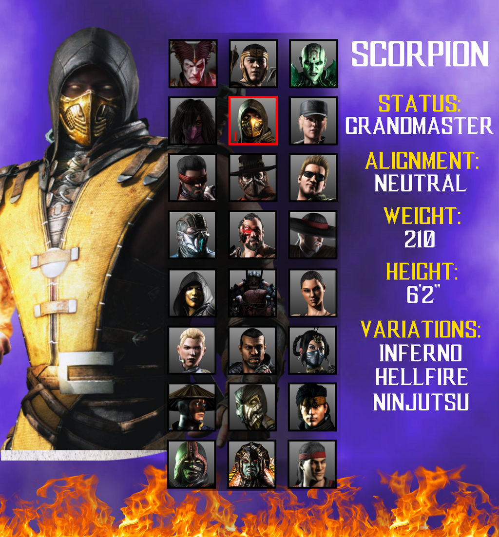 Mortal Kombat X Character Select Remake By Jhonnykiller45 On
