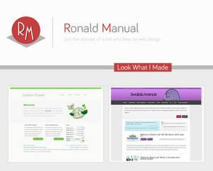 My plans for Ronaldmanual.com