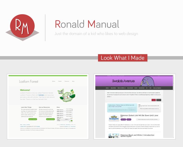 My plans for Ronaldmanual.com by lolitsronald