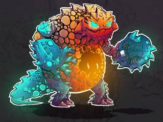 Lobster Monster by aldersonillustration
