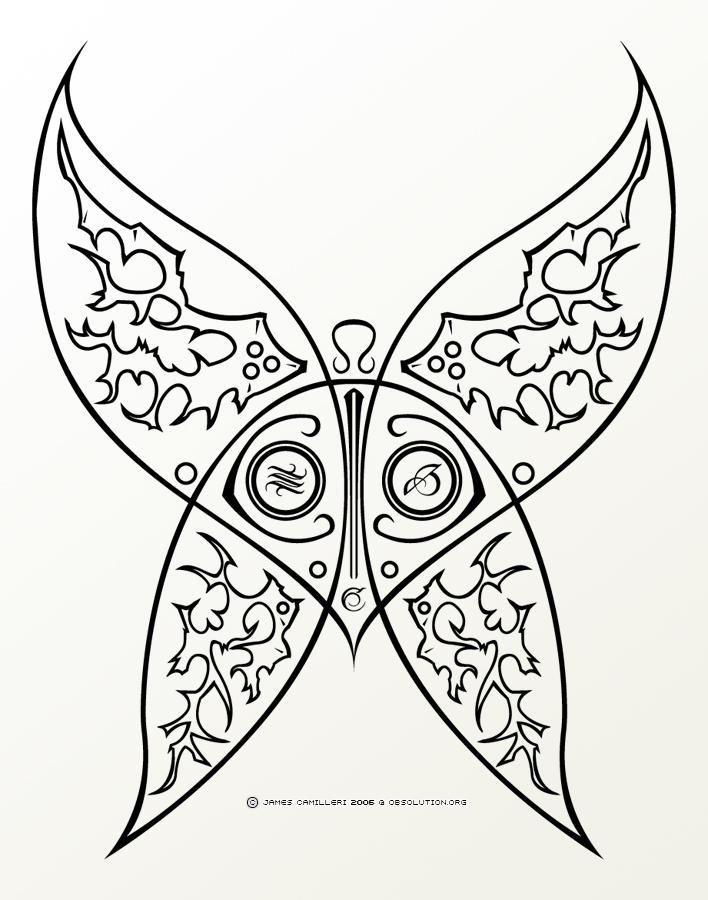 Sinful Butterfly Tattoo - V1
