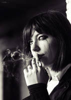 Demon with a cigarette by BirdSophieBlack