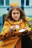 Coffee cup by BirdSophieBlack