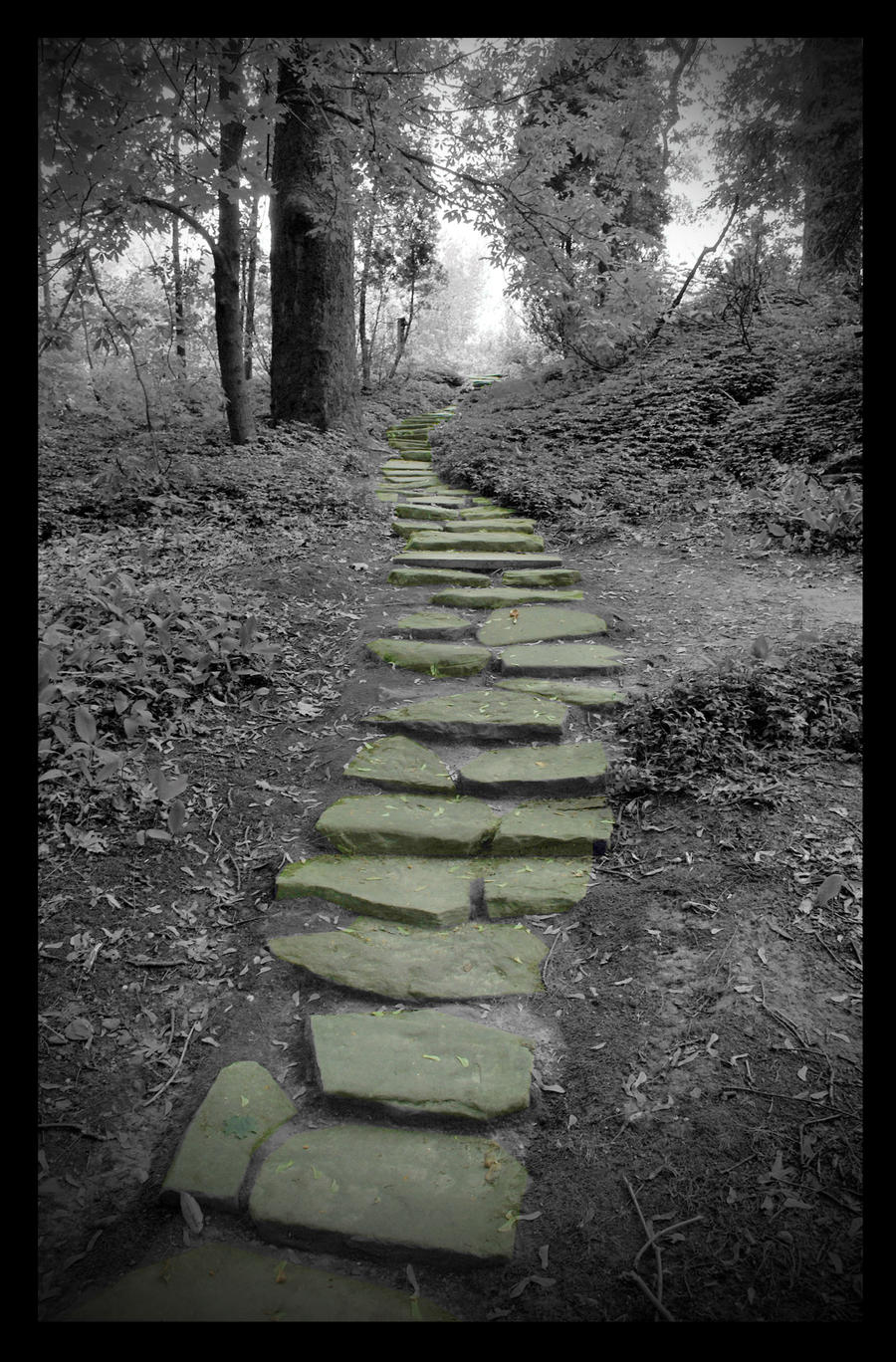 Paintings Of Cobblestone Paths : Stone path by mccake on deviantart